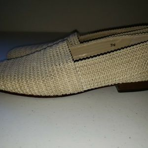 Talbots Womens Size 7.5 N Dress Shoes Bamboo Woven